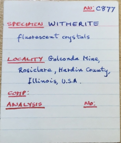 Label Images - only: Witherite