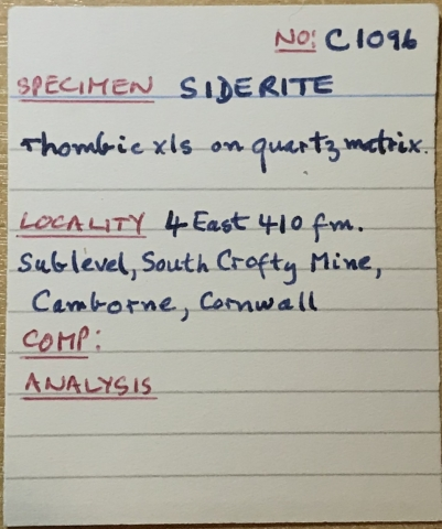 Label Images - only: Siderite