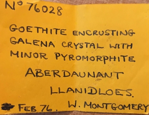 Label Images - only: Goethite On Galena With Pyromorphite