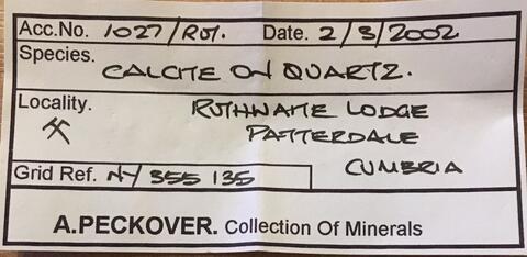 Label Images - only: Native Copper Calcite & Quartz