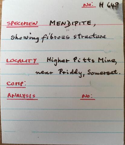 Label Images - only: Mendipite