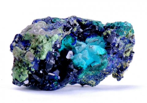 Mineral Images Only: Rosasite Malachite Psm Azurite & Azurite