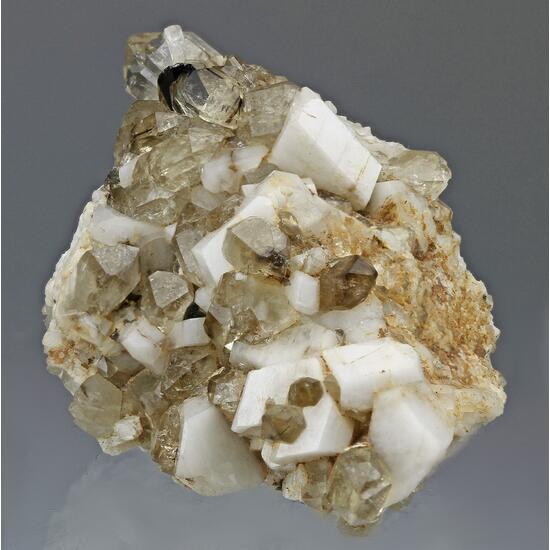 Cassiterite Orthoclase & Smoky Quartz