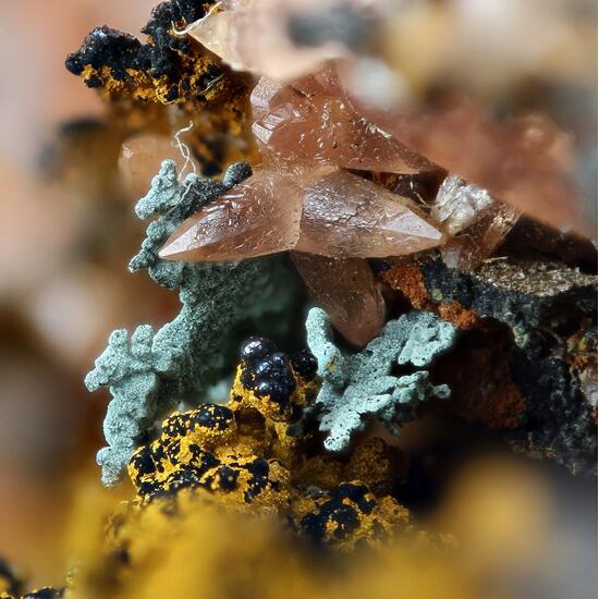 Rhodochrosite & Copper