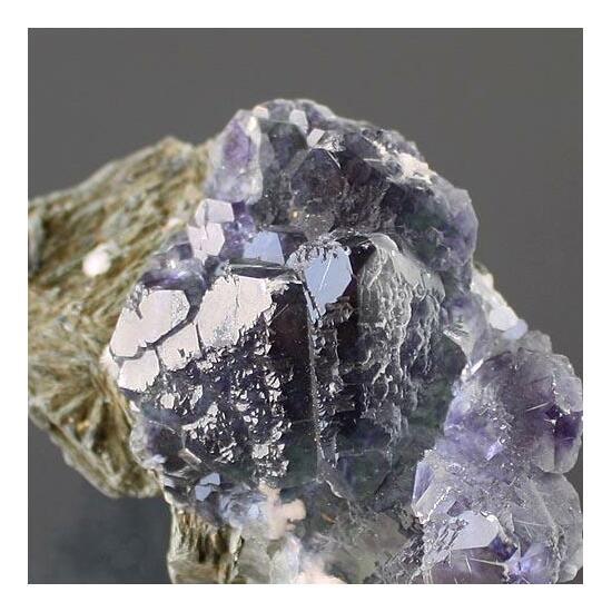 Fluorite On Mica