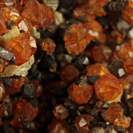 Spessartine Quartz Mica & Fluorite