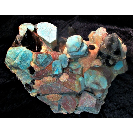 Amazonite Smoky Quartz & Albite Var Cleavelandite