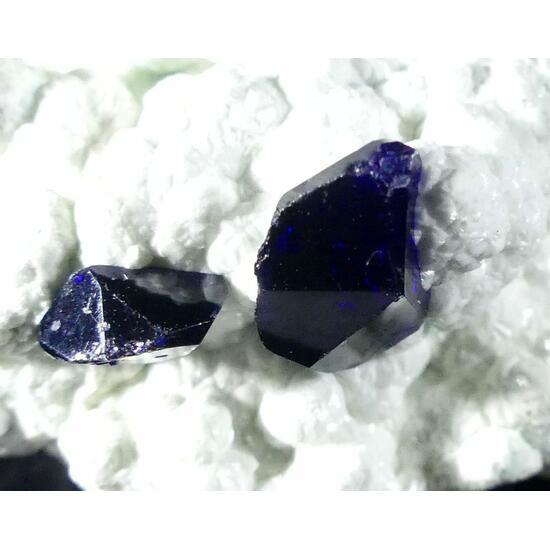 Azurite On Smithsonite With Bayldonite