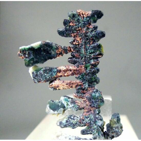 Native Copper With Chrysocolla & Serpentine