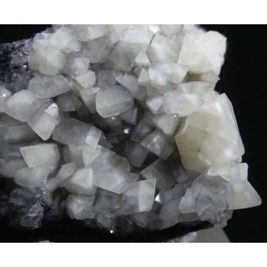 Calcite On Asphaltum Var Impsonite