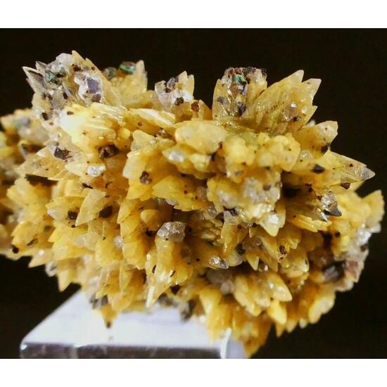 Calcite Copper Malachite & Quartz