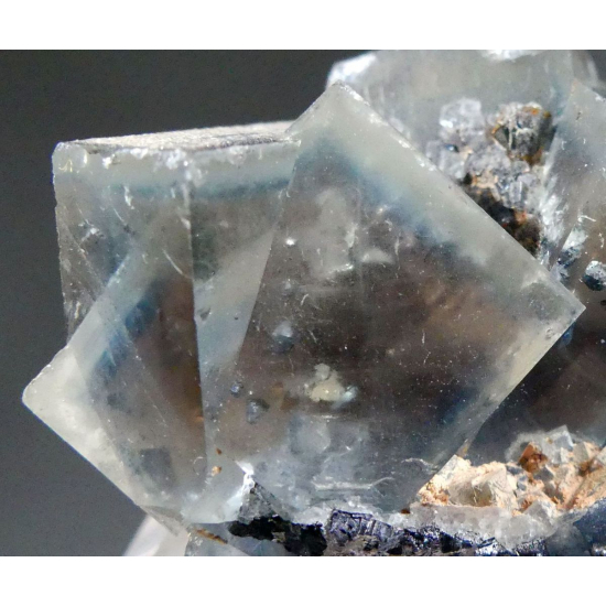 Fluorite With Bournonite Chalcopyrite & Galena