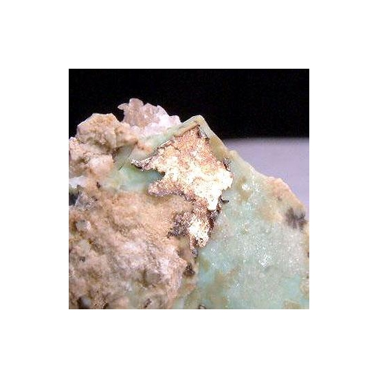 Native Silver With Aurichalcite