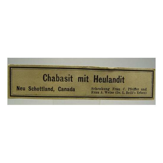 Chabazite & Heulandite
