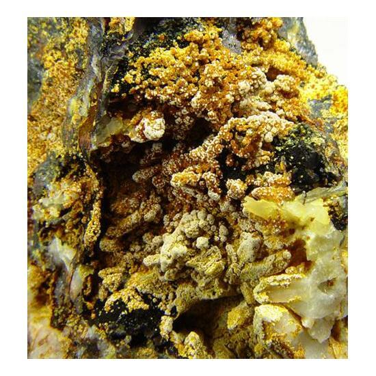 Aluminian Strengite Cacoxenite & Chalcosiderite