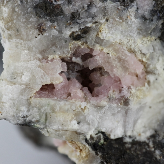 Alabandite With Rhodochrosite