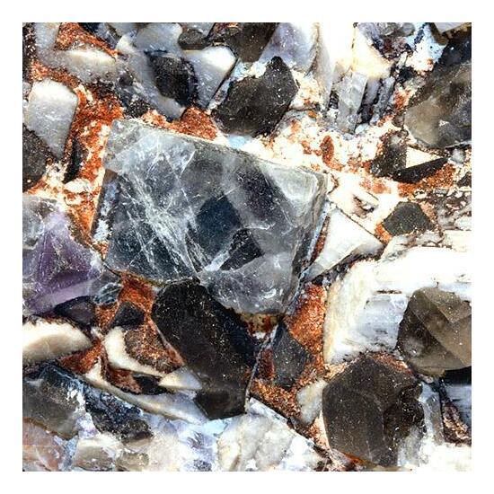 Fluorite Quartz & Microcline
