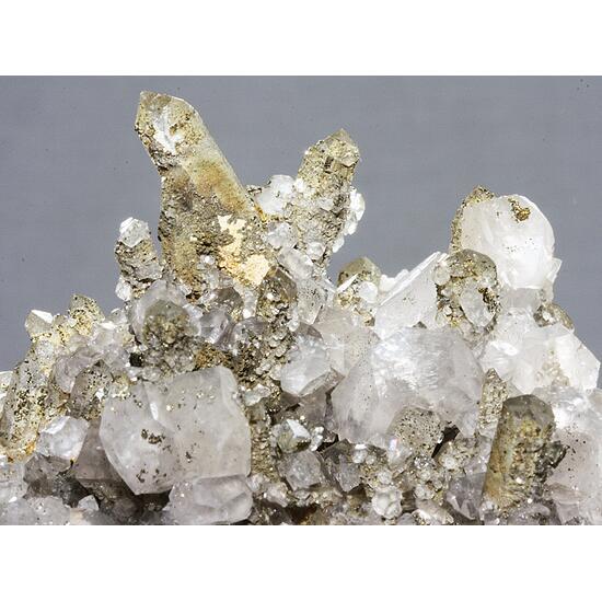 Smoky Quartz Calcite & Pyrite