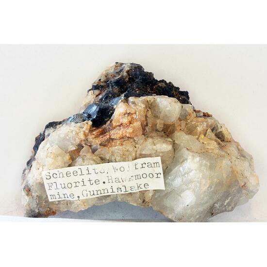 Wolframite Scheelite & Fluorite