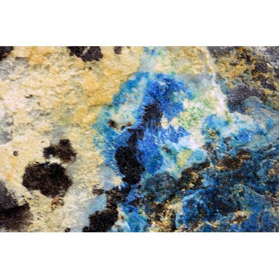 Azurite On Magnetite & Bornite