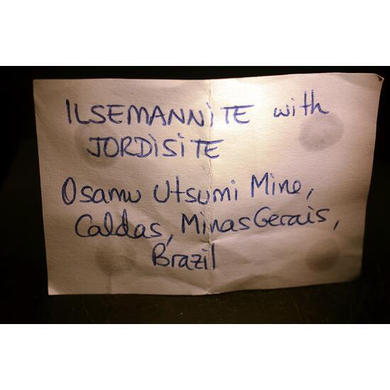Ilsemannite & Jordisite