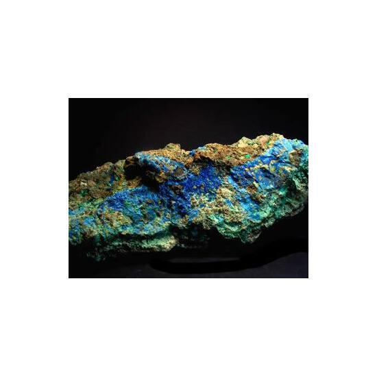 Cyanotrichite & Malachite