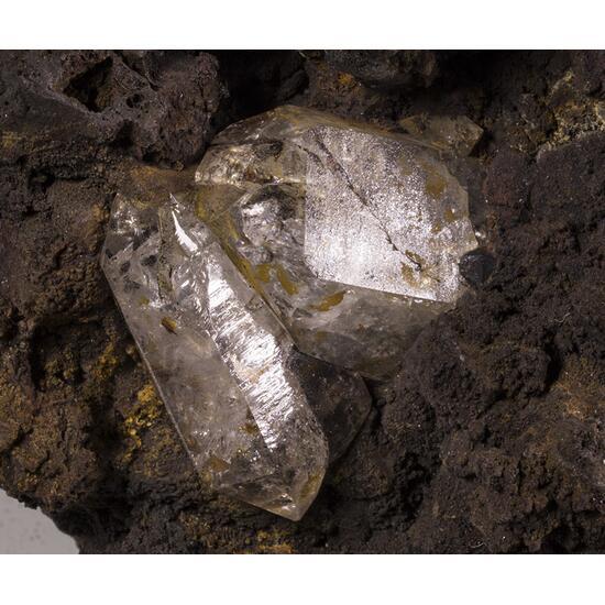Quartz & Goethite Psm Pyrite