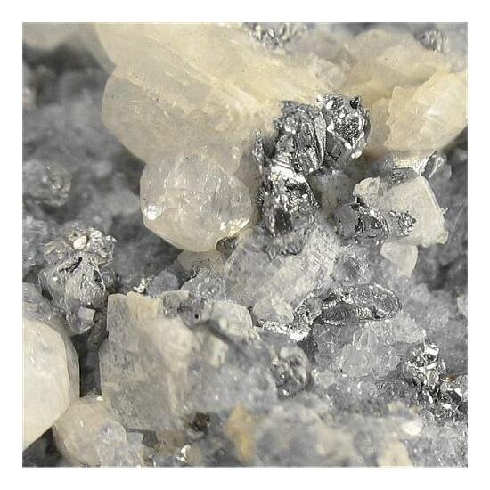 Native Tellurium With Sylvanite & Calcite
