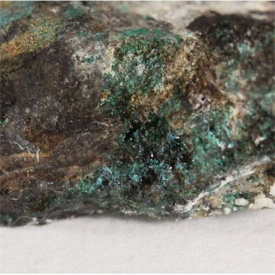 Gold With Atacamite & Chrysocolla
