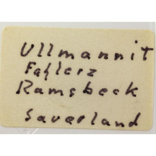 Ullmannite With Fahlerz