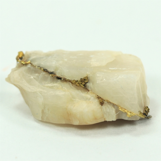 Gold With Calcite