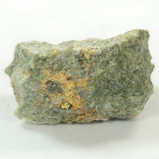 Gold With Epidote & Pyrite