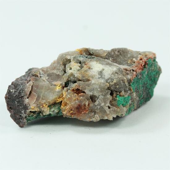 Gold With Bornite & Malachite
