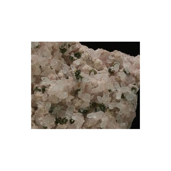 Rhodochrosite With Quartz & Pyrite