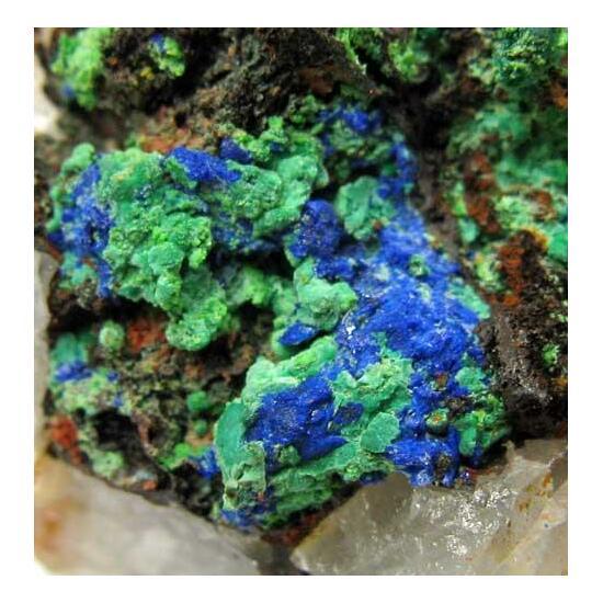 Azurite & Malachite On Quartz