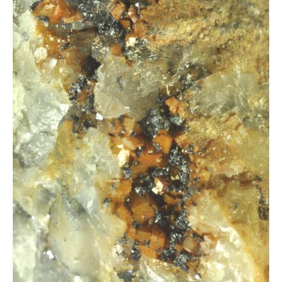 Rosickýite & Galena & Dolomite
