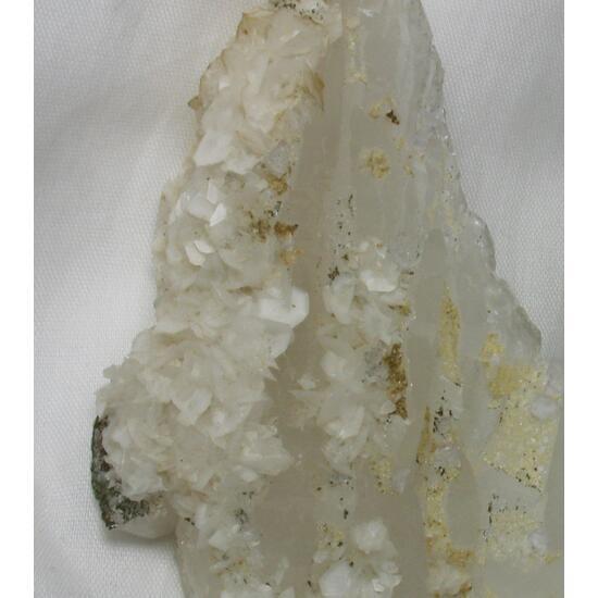 Calcite & Pyrite & Dolomite & Fluorite On Quartz
