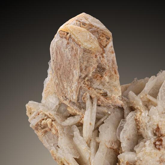 Hydroxylherderite On Cleavelandite