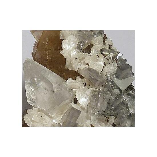 Calcite & Baryte On Fluorite