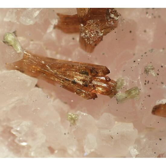 Eosphorite On Rose Quartz