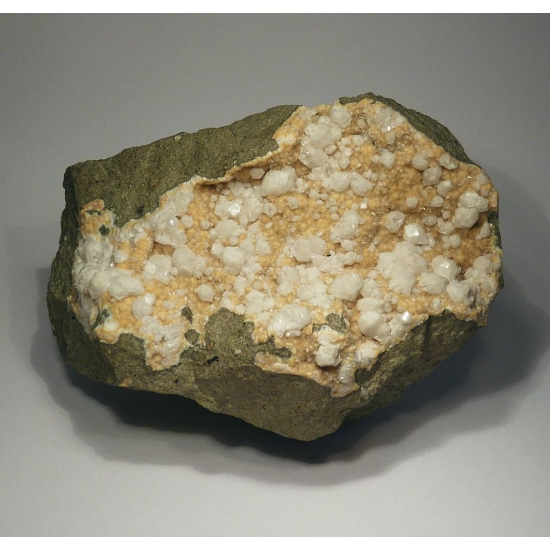Fluorapophyllite On Natrolite