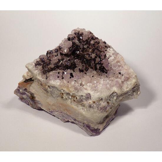Hematite On Amethyst