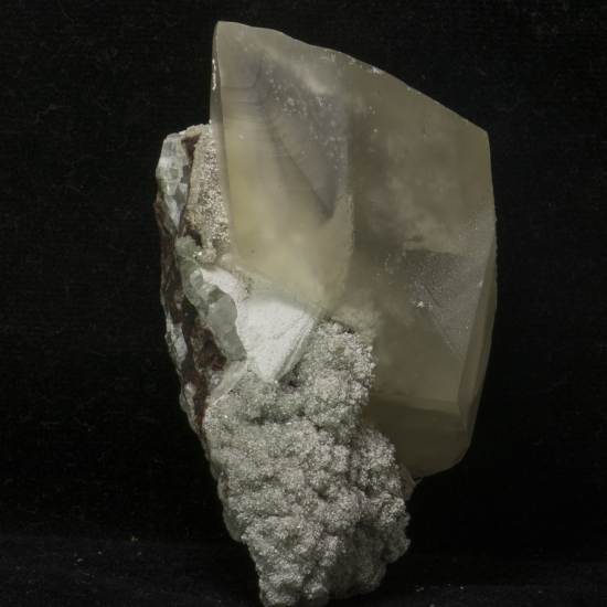 Calcite On Heulandite
