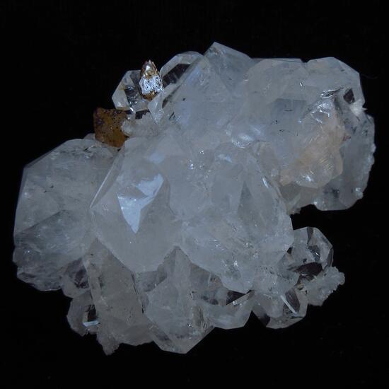 Powellite On Apophyllite With Stilbite & Chalcedony