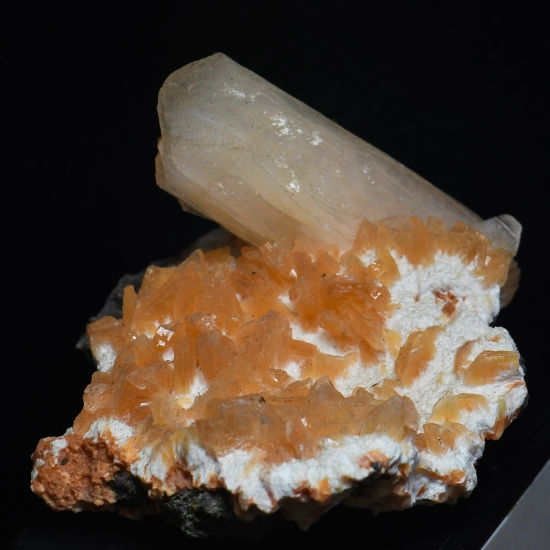 Heulandite With Stilbite On Mordenite