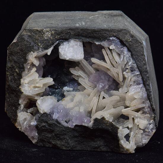 Amethyst On Chalcedony With Baryte & Chabazite