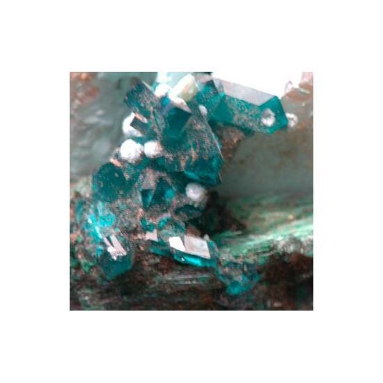 Dioptase Malachite Plancheite & Shattuckite