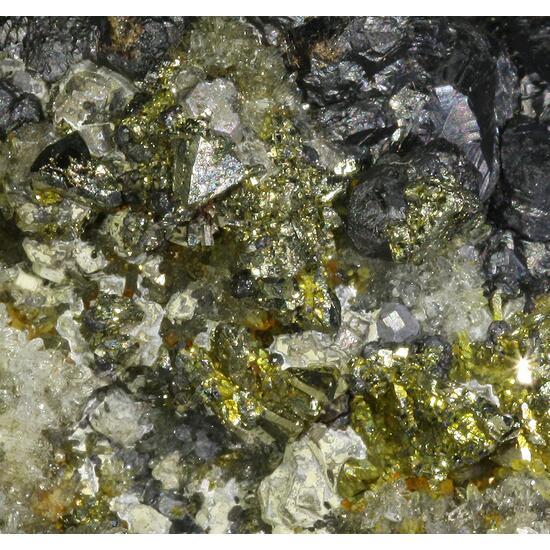Pyrite Psm Chalcopyrite & Sphalerite