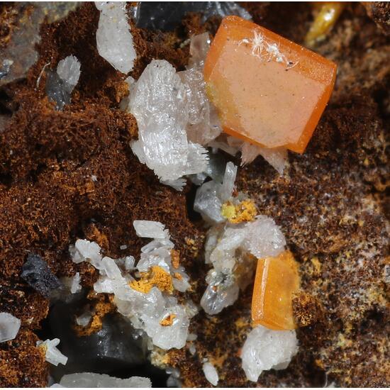 Wulfenite & Cerussite
