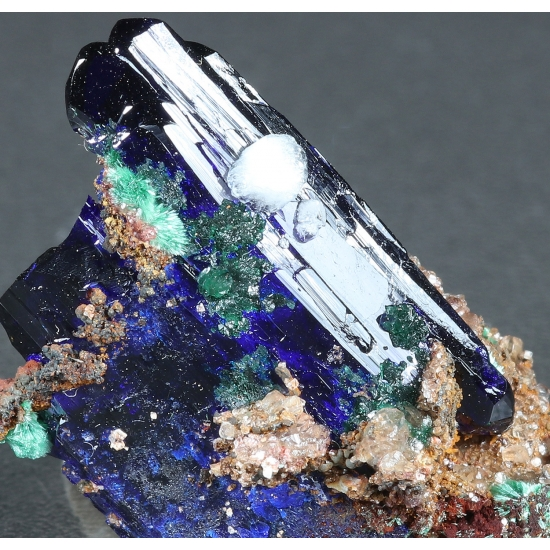 Azurite Calcite Brochantite & Malachite